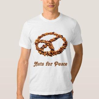 Nueces para la camiseta de la paz camisas