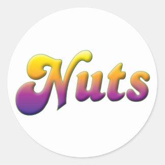Nueces Etiquetas Redondas