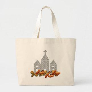 Nueces religiosas bolsa tela grande