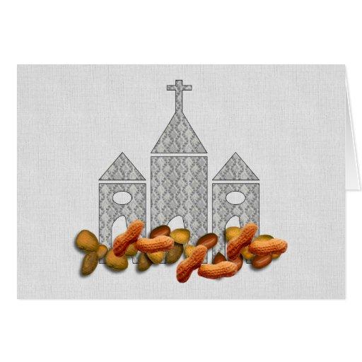 Nueces religiosas tarjeton