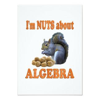 """Nueces sobre álgebra invitación 5"""" x 7"""""""
