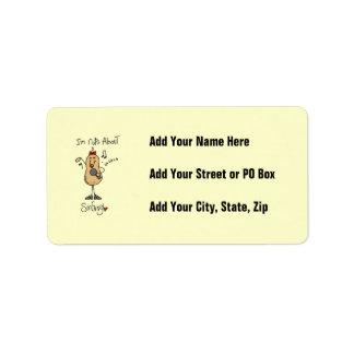 Nueces sobre las camisetas y los regalos del canto etiqueta de dirección