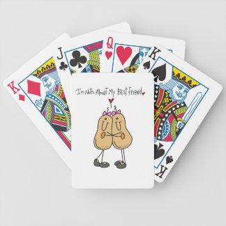 Nueces sobre mis camisetas y regalos del mejor ami cartas de juego
