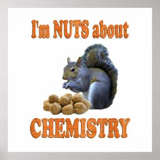 Nueces sobre química impresiones