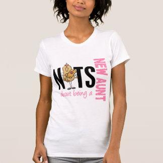 Nueces sobre ser una nueva tía 1 rosa camisetas
