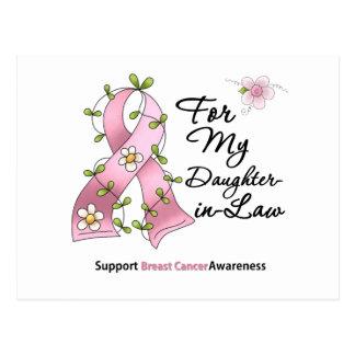 Nuera de la ayuda del cáncer de pecho postal