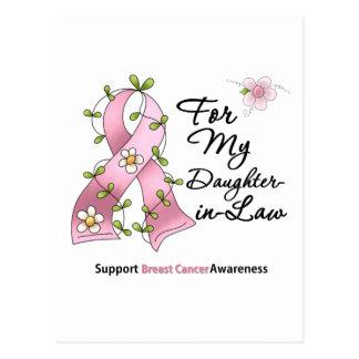 Nuera de la ayuda del cáncer de pecho tarjeta postal