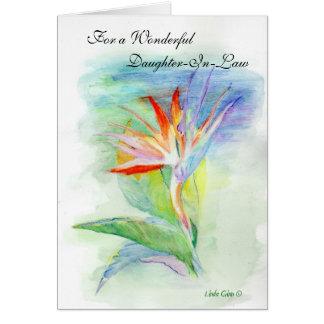 Nuera del feliz cumpleaños tarjeta de felicitación