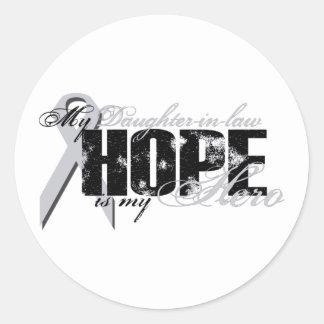 Nuera mi héroe - esperanza del pulmón etiquetas redondas