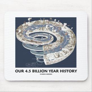 Nuestra 4 5 mil millones historias del año cronol alfombrilla de ratones