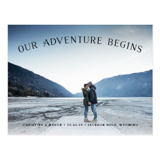 Nuestra aventura comienza reserva de la foto del | postales