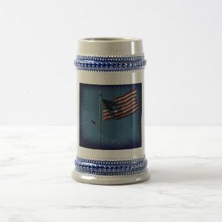 Nuestra bandera americana jarra de cerveza
