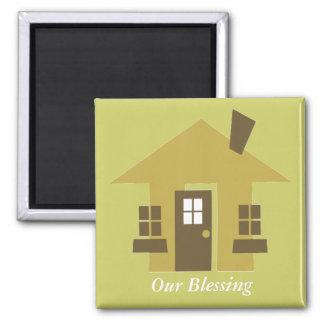 Nuestra bendición imán cuadrado