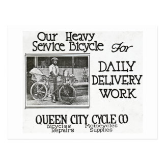 Nuestra bicicleta pesada del servicio - vintage am postales