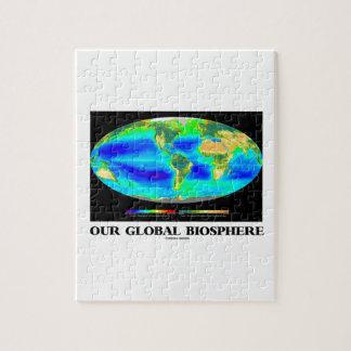 Nuestra biosfera global fotosíntesis global puzzle con fotos
