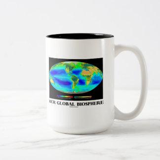 Nuestra biosfera global (fotosíntesis global) taza de dos tonos