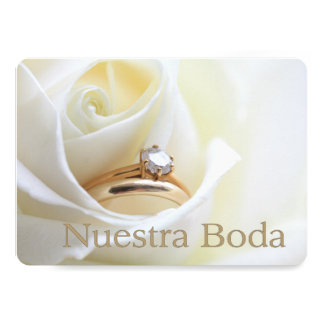 Nuestra Boda - invitación española del boda