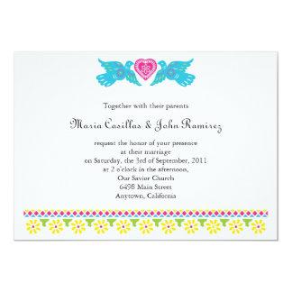 Nuestra Boda Love Birds Banner Invitation