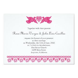 Nuestra Boda Papel Picado Love Birds 5x7 Paper Invitation Card