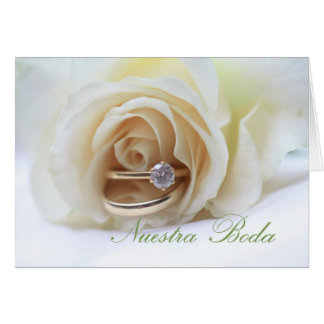 Nuestra Boda - Spanish  wedding invitation