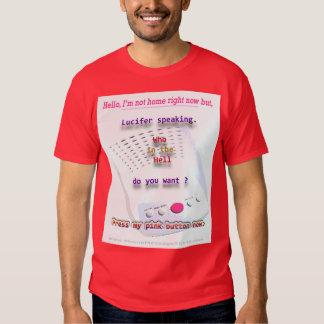 Nuestra camisa candente del mensaje de Lucifer