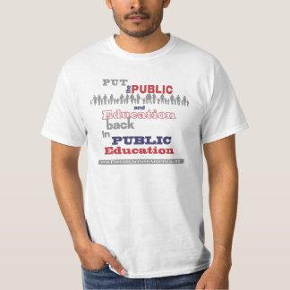 """Nuestra camiseta del valor: """"… Trasero puesta """""""