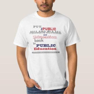 """Nuestra camiseta del valor: """"… Trasero puesta """" Polera"""