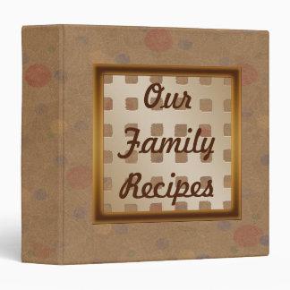 Nuestra carpeta del libro de cocina de las recetas