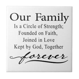 Nuestra cita de la familia azulejo cuadrado pequeño