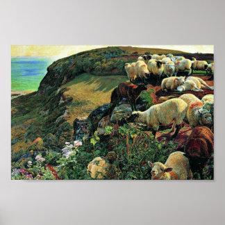 Nuestra costa inglesa (oveja perdida) por la caza  posters