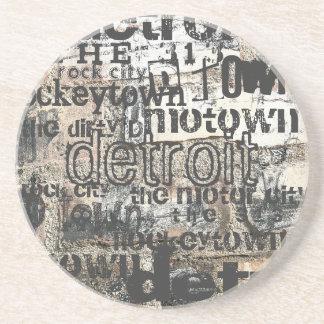 Nuestra Detroit Posavasos Diseño