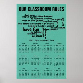 Nuestra escuela gobierna el calendario 2014 posters