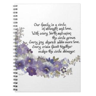 Nuestra familia es un círculo cuadernos