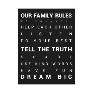 Nuestra familia gobierna - 18 x 24 impresión en lona estirada