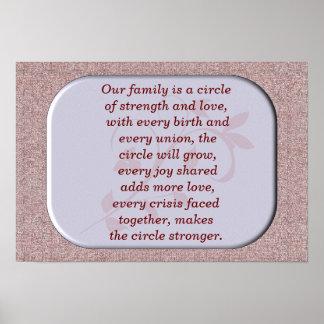 Nuestra familia - impresión del arte póster