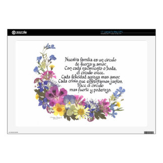 """Nuestra Familia (Our Family) 17"""" Laptop Decal"""