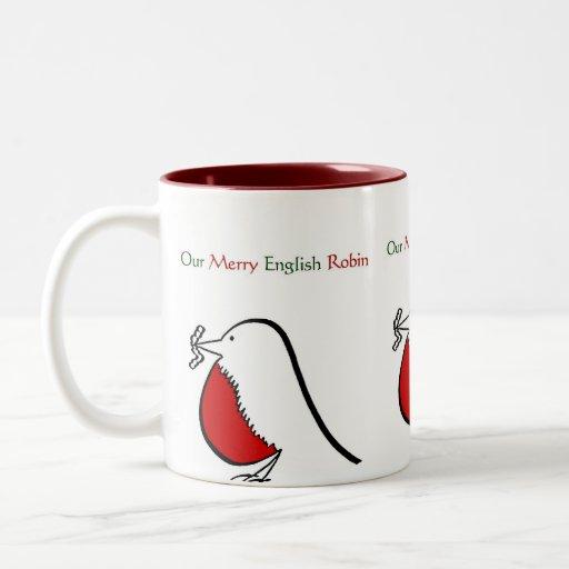 Nuestra feliz taza inglesa del petirrojo