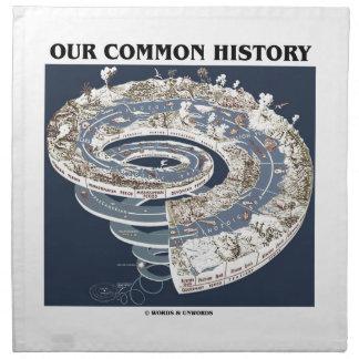Nuestra historia común (espiral de la cronología servilletas