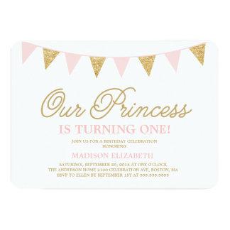Nuestra invitación del cumpleaños de la princesa invitación 12,7 x 17,8 cm