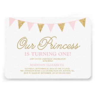 Nuestra invitación del cumpleaños de la princesa e