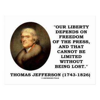 Nuestra libertad depende de la libertad de prensa postal