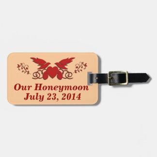 Nuestra luna de miel etiqueta para maleta