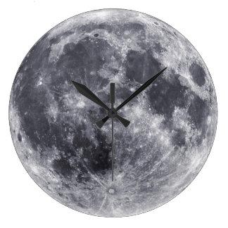 Nuestra luna reloj redondo grande