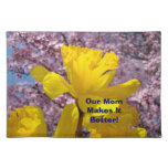 ¡Nuestra mamá lo hace mejor! flores de la primaver Mantel
