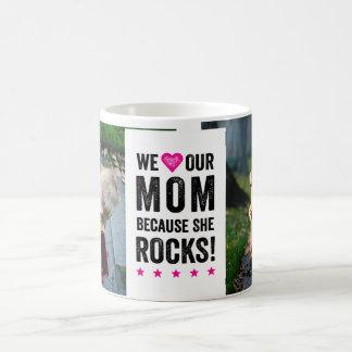 Nuestra mamá oscila la taza de la foto