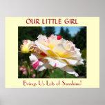 ¡Nuestra niña nos trae porciones de sol! Rosas Impresiones