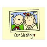 Nuestra novia del boda y camisetas y regalos del n postales