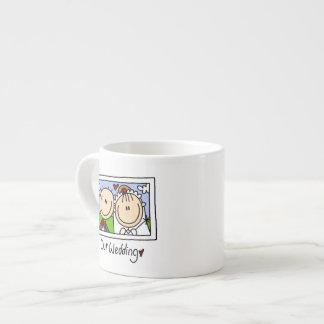 Nuestra novia del boda y camisetas y regalos del n tazas espresso