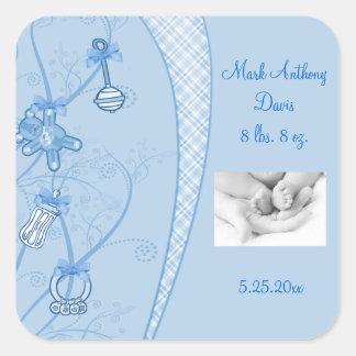 Nuestra nueva adición en tonalidades azules pegatina cuadrada