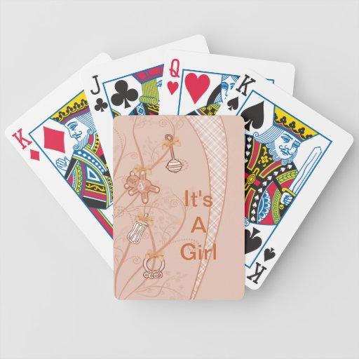 Nuestra nueva adición en tonalidades del melocotón baraja cartas de poker